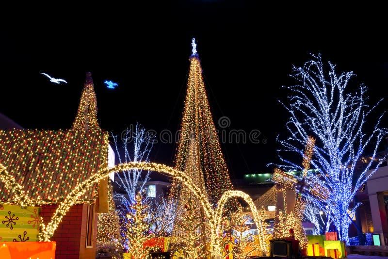 圣诞节照明设备 图库摄影