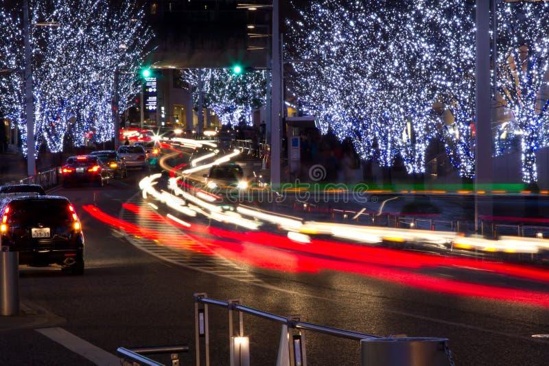 圣诞节照明roppongi东京 免版税库存图片