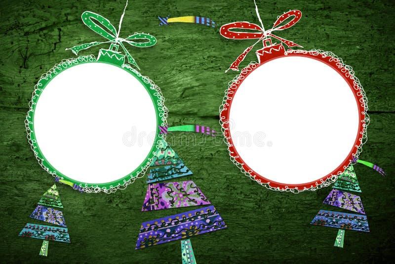 圣诞节照片构筑卡片 库存照片