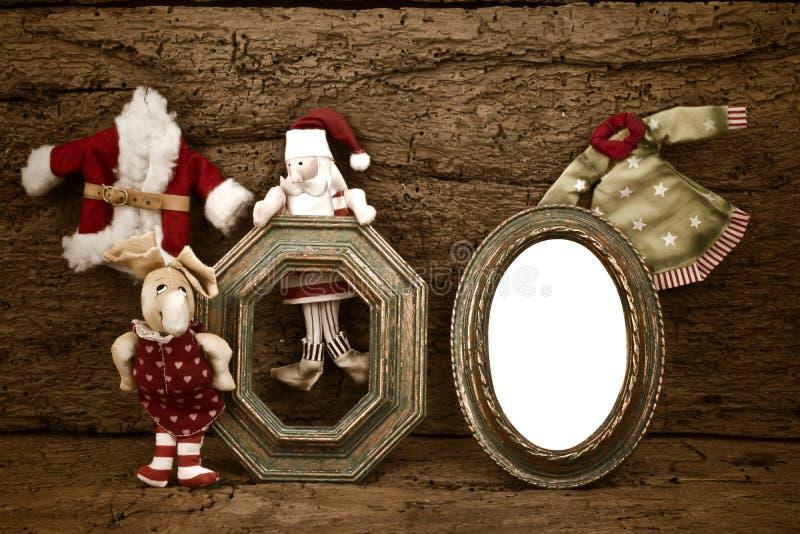 圣诞节照片框架卡片 图库摄影