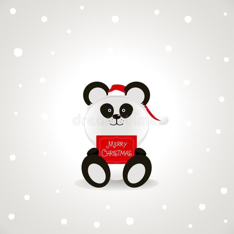 圣诞节熊猫 皇族释放例证
