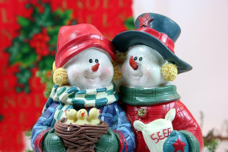 圣诞节特写镜头夫妇 库存照片