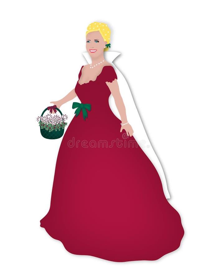 圣诞节玩偶红色 库存例证
