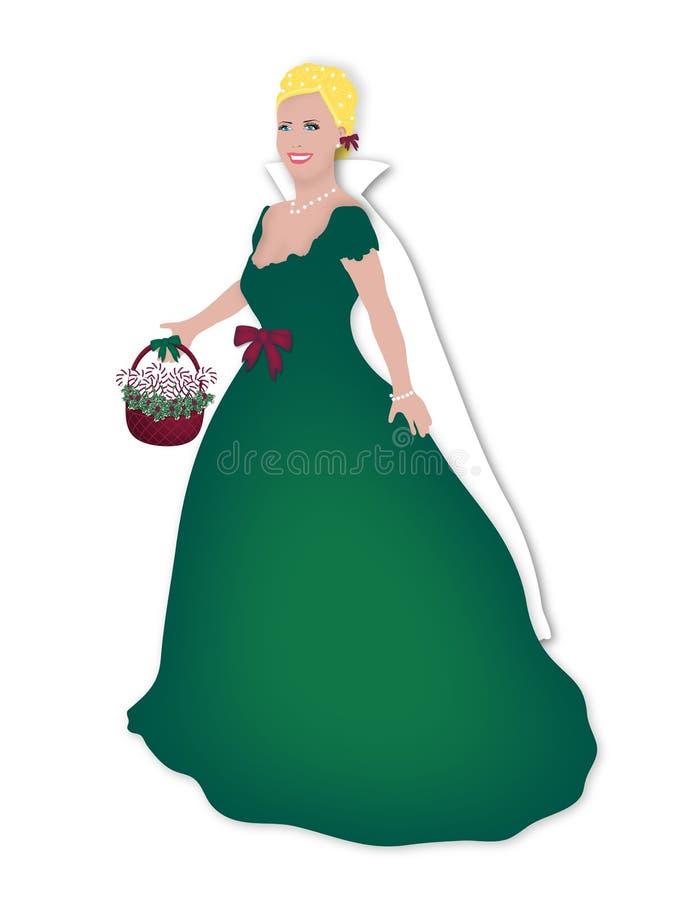 圣诞节玩偶绿色 皇族释放例证