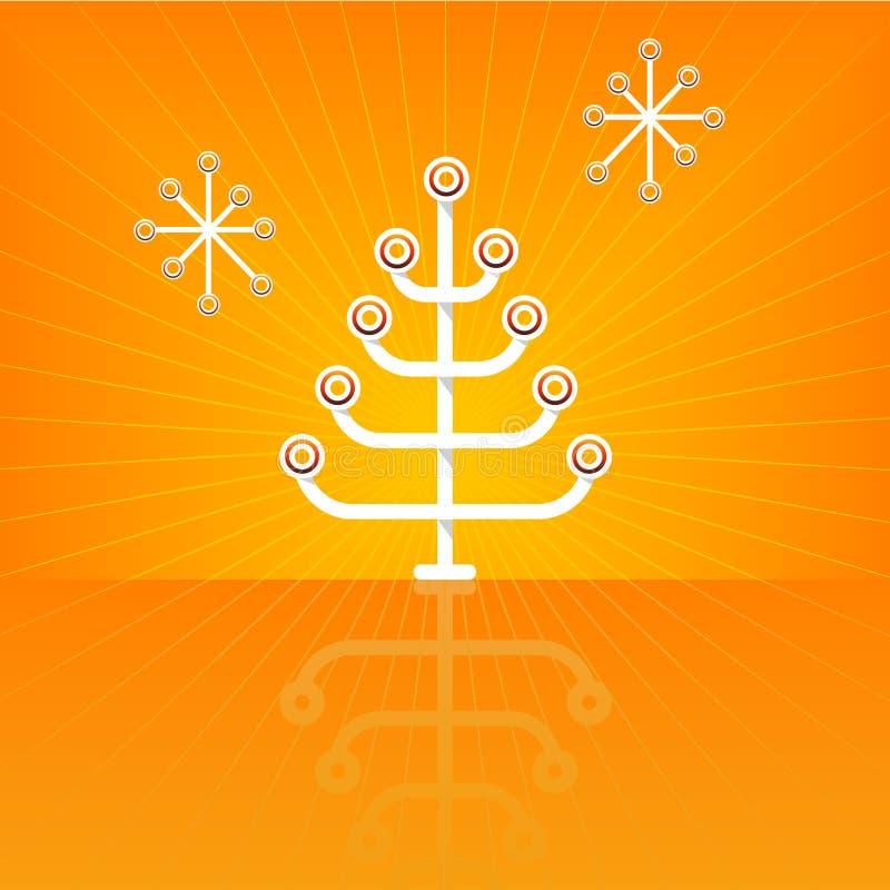 圣诞节现代风格化结构树 皇族释放例证
