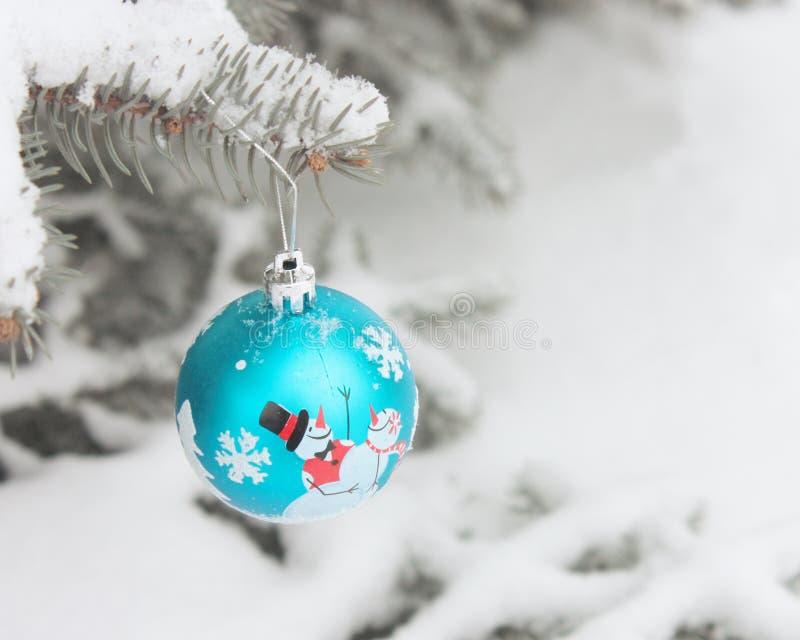 圣诞节球卡片材料的照片 库存图片