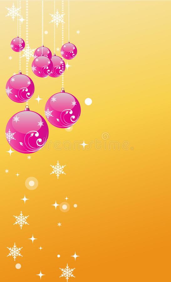 圣诞节球背景 向量例证