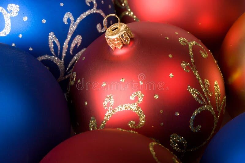 圣诞节球背景 库存图片