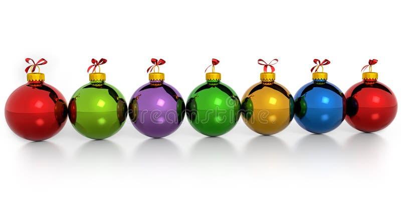 圣诞节球行 皇族释放例证
