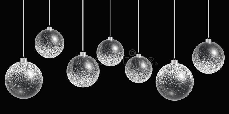 圣诞节球装饰品 库存例证