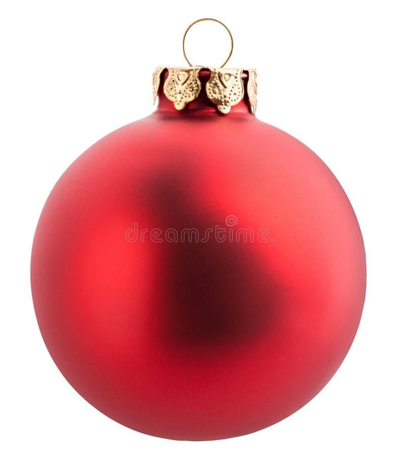 圣诞节球隔绝与裁减路线 图库摄影