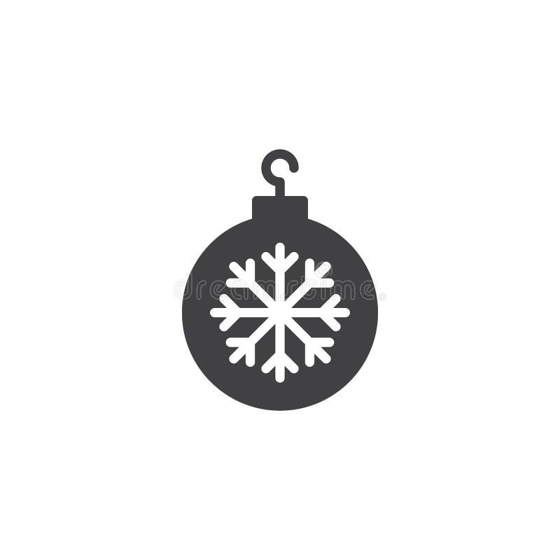 圣诞节球雪花传染媒介象 皇族释放例证