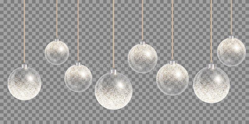 圣诞节球雪 向量例证