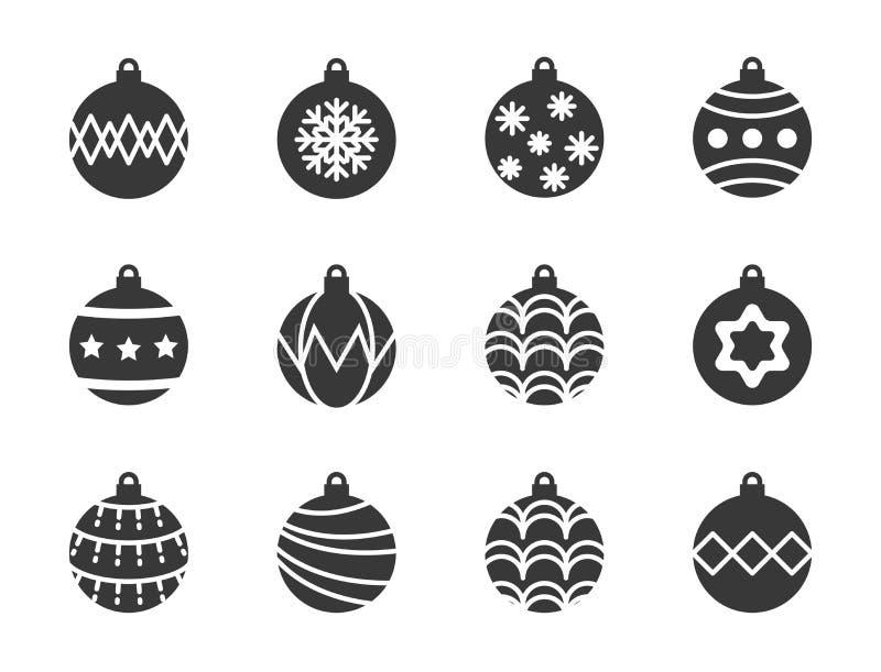 圣诞节球,中看不中用的物品象集合,适用作为材料 皇族释放例证