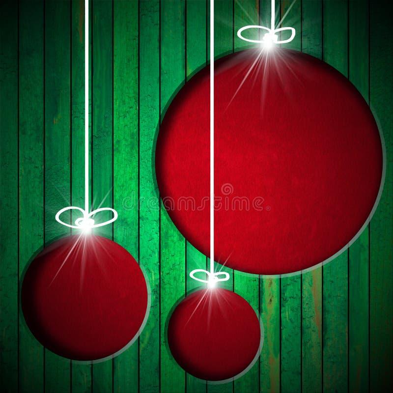 圣诞节球-难看的东西背景 向量例证