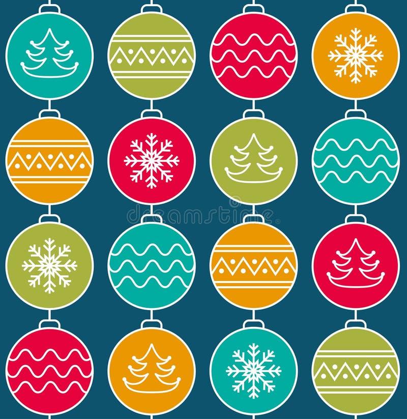 圣诞节球 向量例证