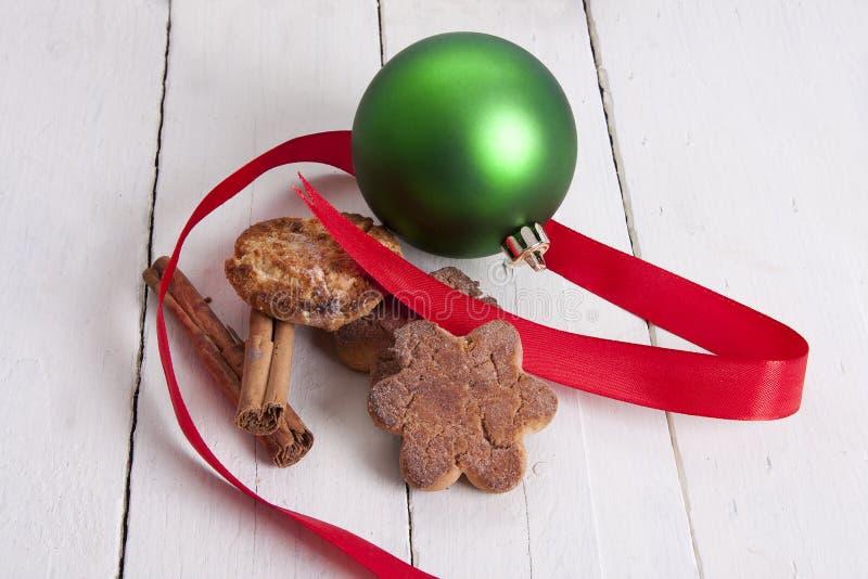 圣诞节甜点和酥皮点心 免版税库存图片