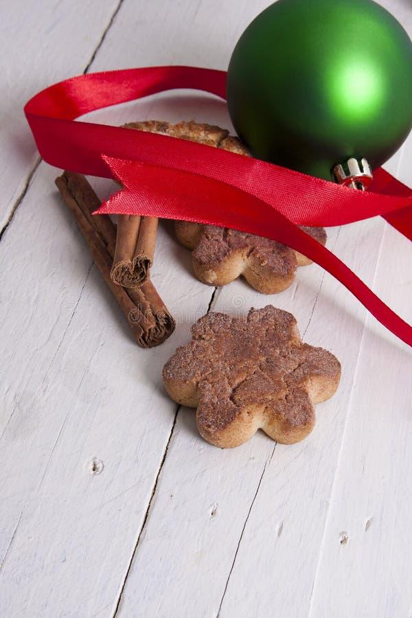 圣诞节甜点和酥皮点心 库存照片