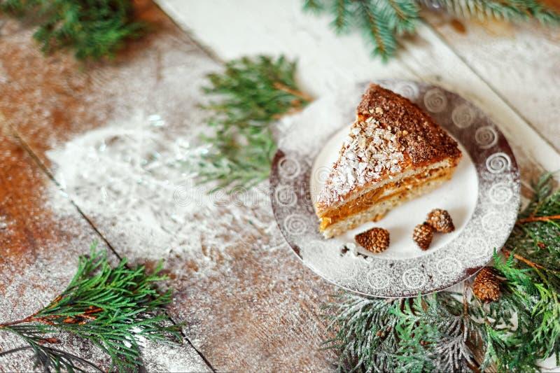 圣诞节甜点,圣诞节甜点,蛋糕,新年 库存照片