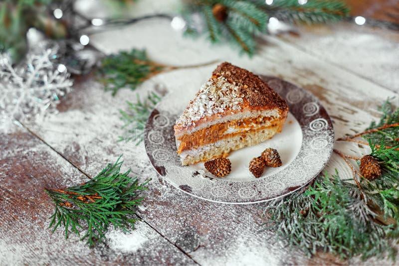 圣诞节甜点,圣诞节甜点,蛋糕,新年 图库摄影