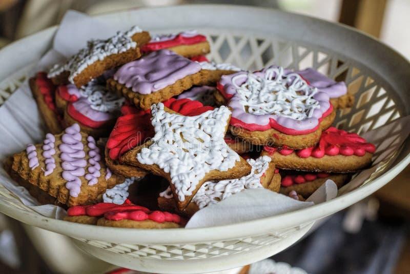 圣诞节甜点,美国标志,美国美国独立日,辛苦D 免版税库存照片