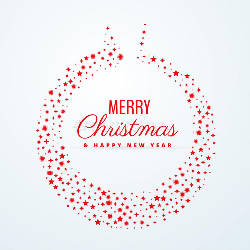 圣诞节用星装饰做的球设计 皇族释放例证