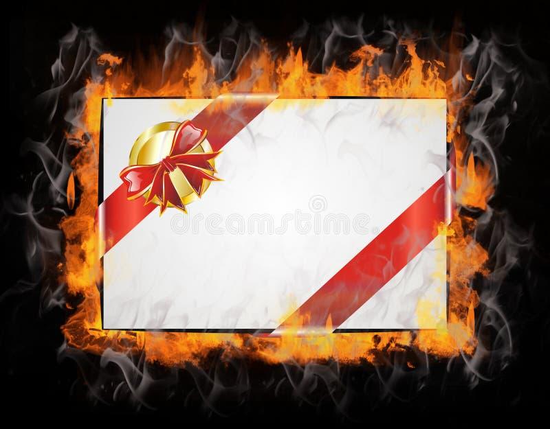 圣诞节电子邮件热图标消息 向量例证