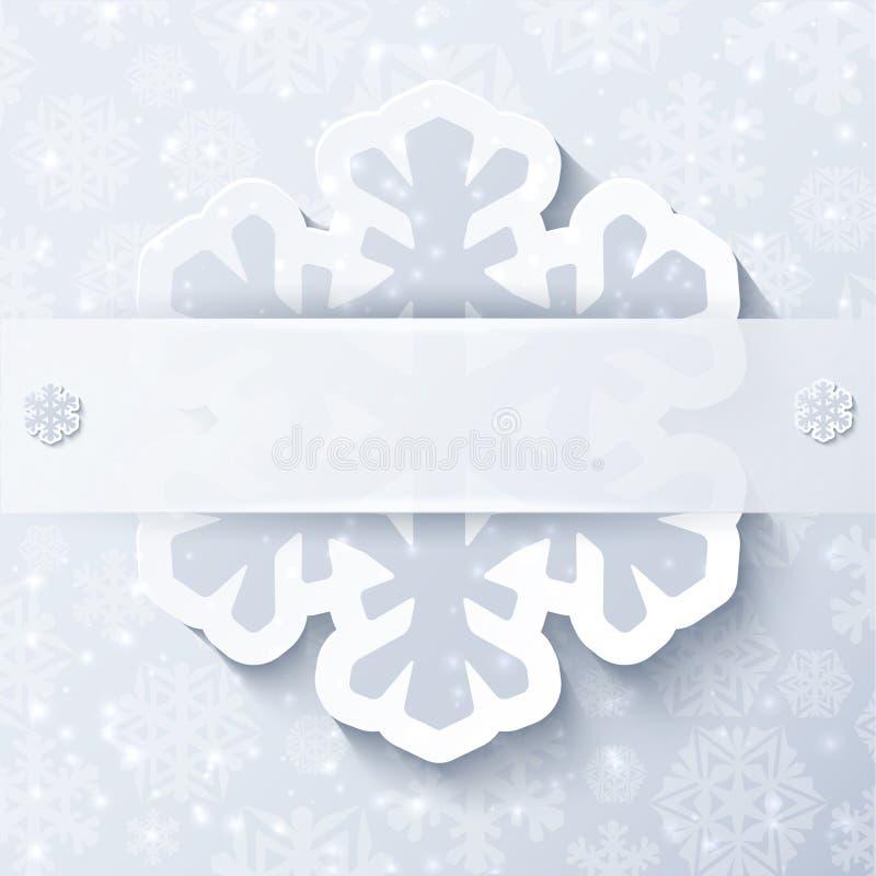 圣诞节白色抽象背景 库存例证
