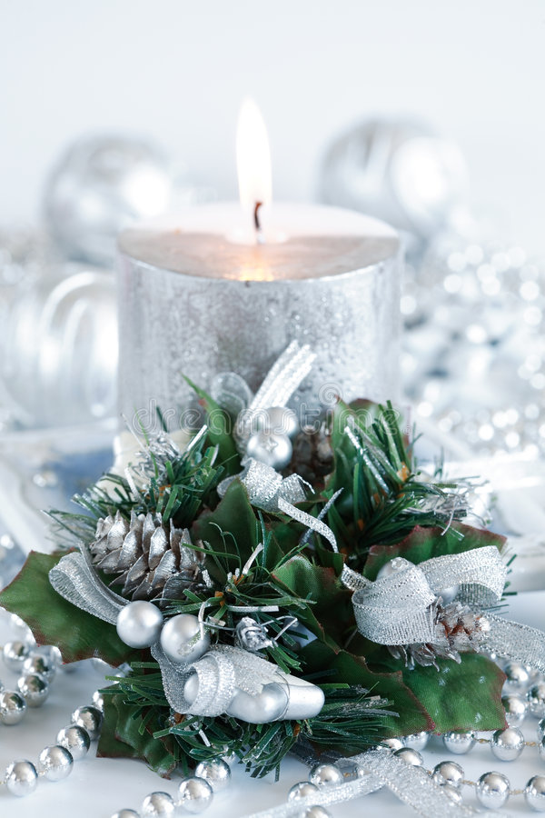 圣诞节白色 库存照片