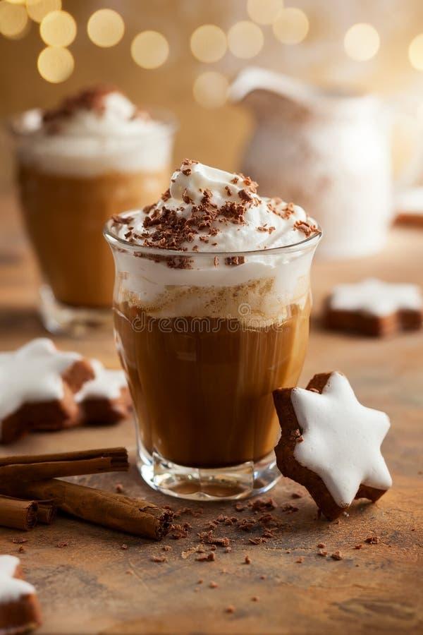 圣诞节的咖啡震动 库存照片