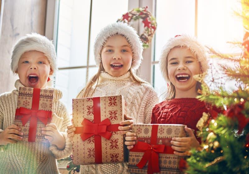 圣诞节的孩子 图库摄影