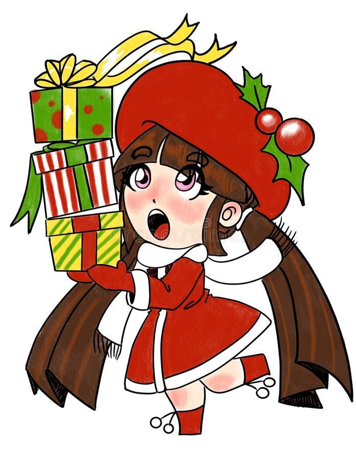 圣诞节的想法大家的在颜色 皇族释放例证