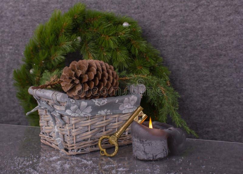 圣诞节的概念新房 图库摄影