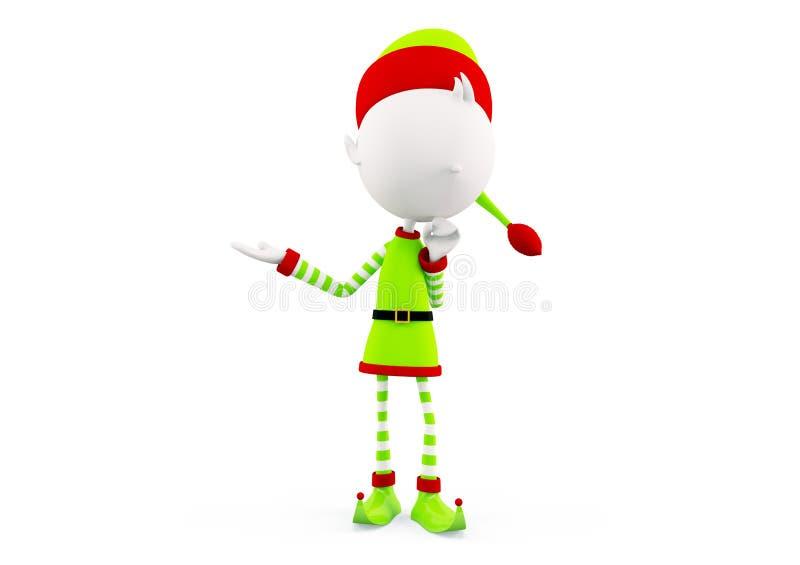 圣诞节的矮子 库存例证