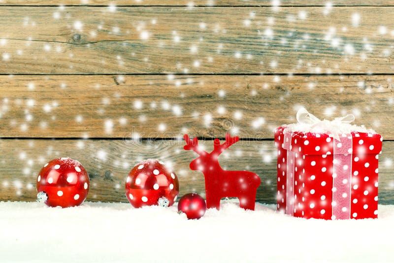 圣诞节的红色礼物 库存照片
