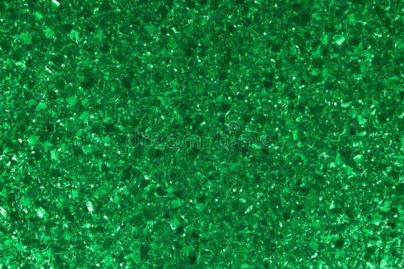 圣诞节的闪烁绿色背景 图库摄影