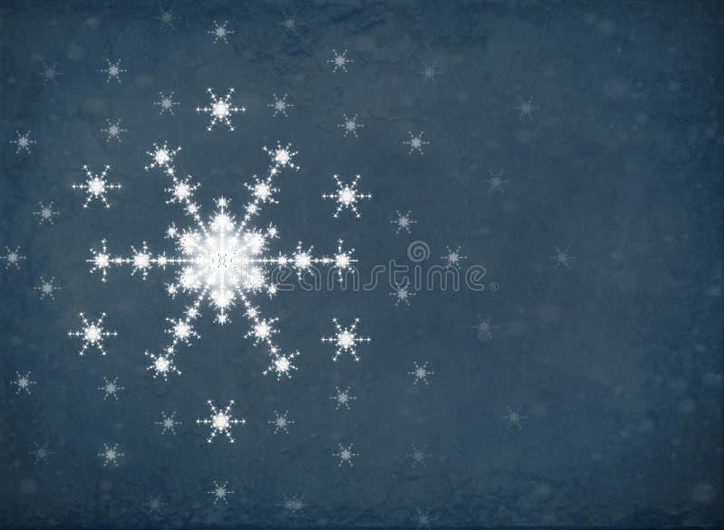 圣诞节的风格化白色雪花 向量例证