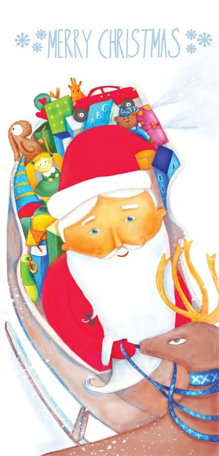 圣诞节的贺卡 免版税库存照片