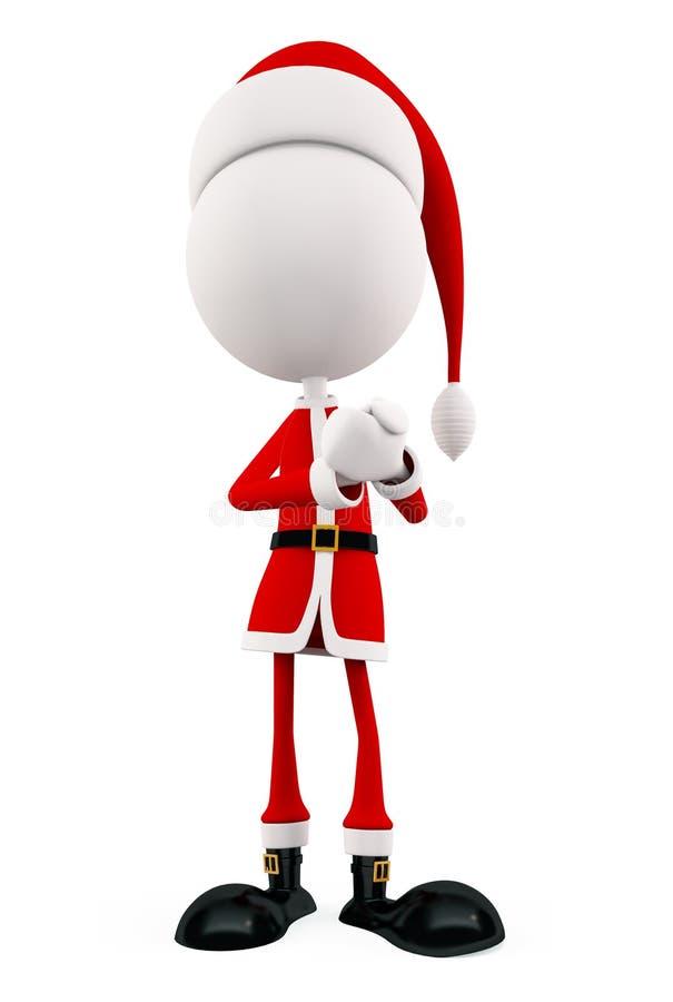 圣诞节的3d圣诞老人 向量例证