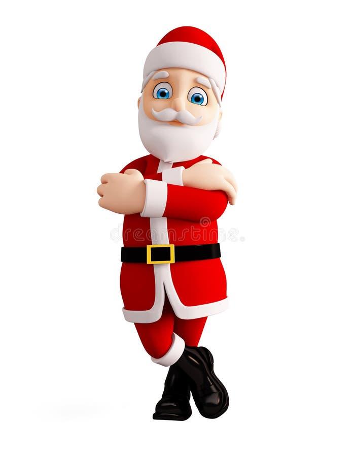 圣诞节的3d圣诞老人 库存例证