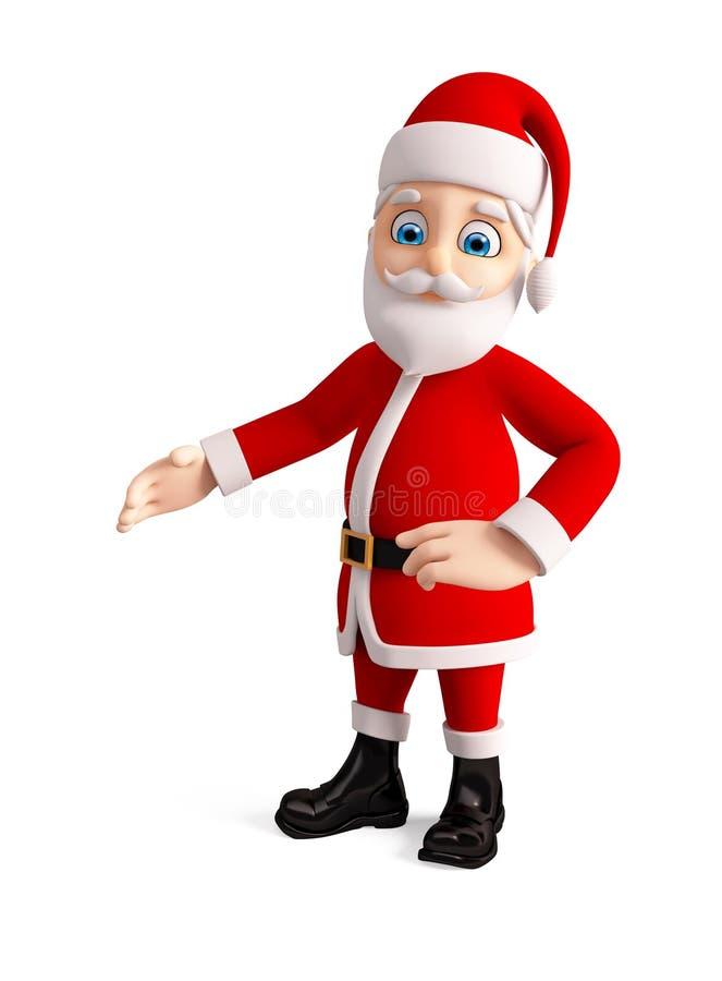 圣诞节的3d圣诞老人 皇族释放例证