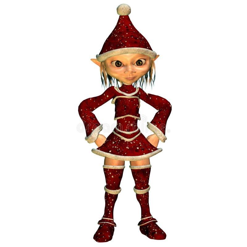 圣诞节矮子姿势方面 向量例证