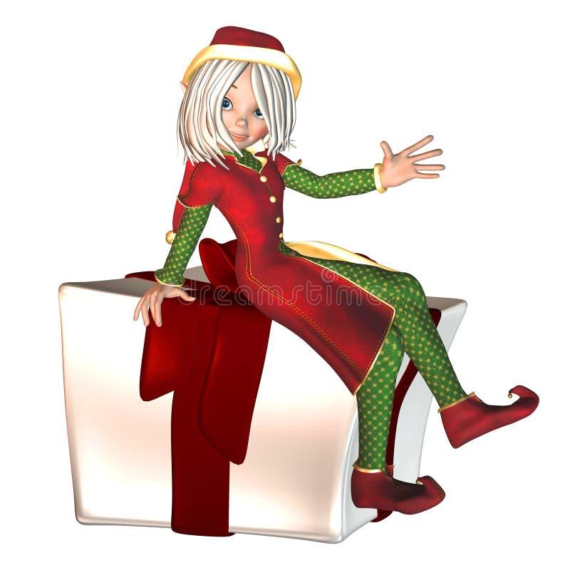 圣诞节矮子存在 皇族释放例证