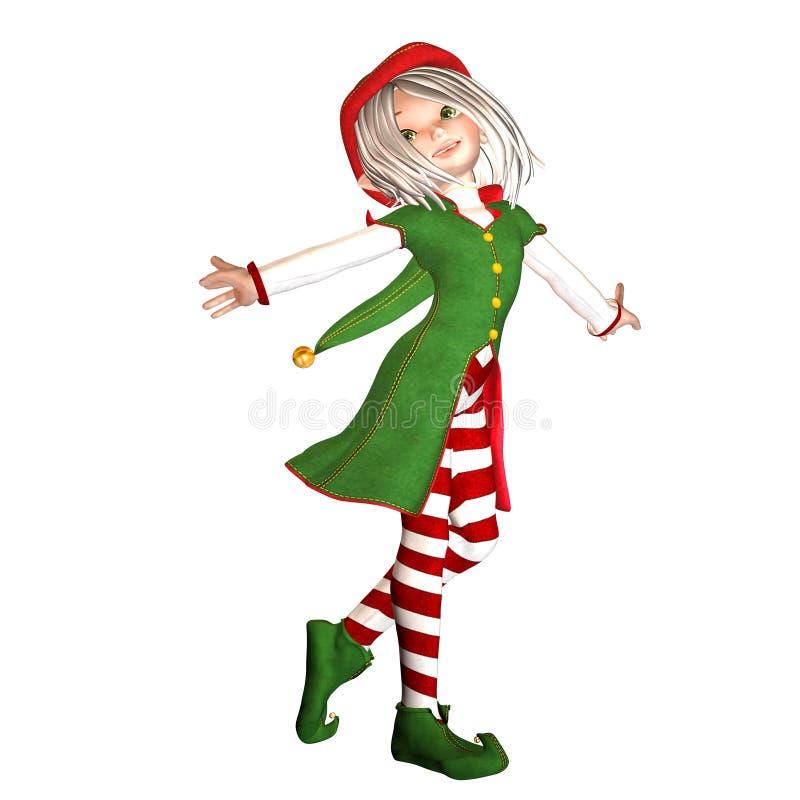 圣诞节矮子 向量例证