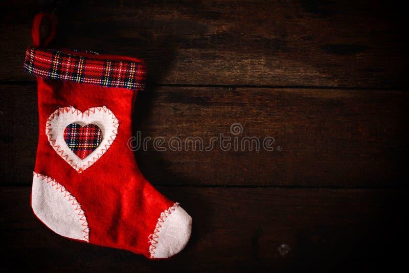 圣诞节礼品例证红色袜子向量白色 向量例证