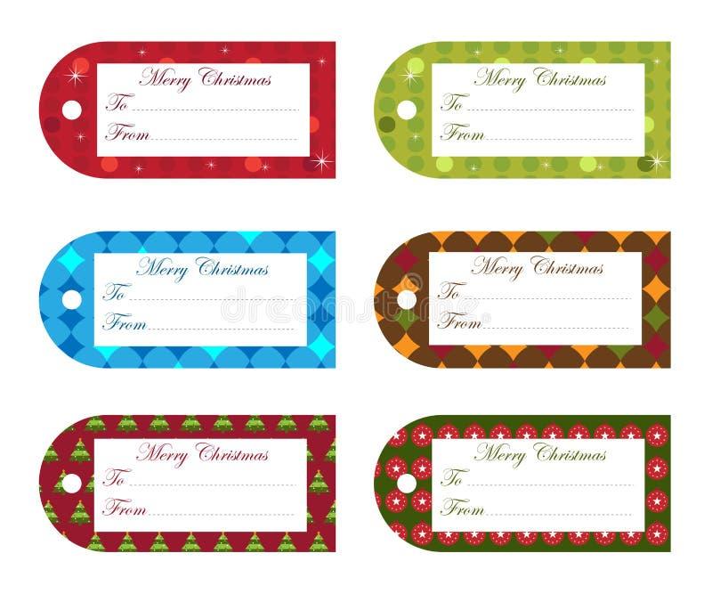 圣诞节礼品标签 向量例证