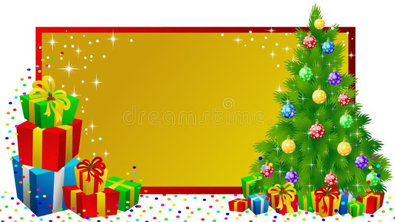 圣诞节礼品标签 皇族释放例证