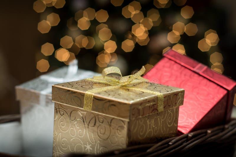 圣诞节礼品隔离白色 库存照片