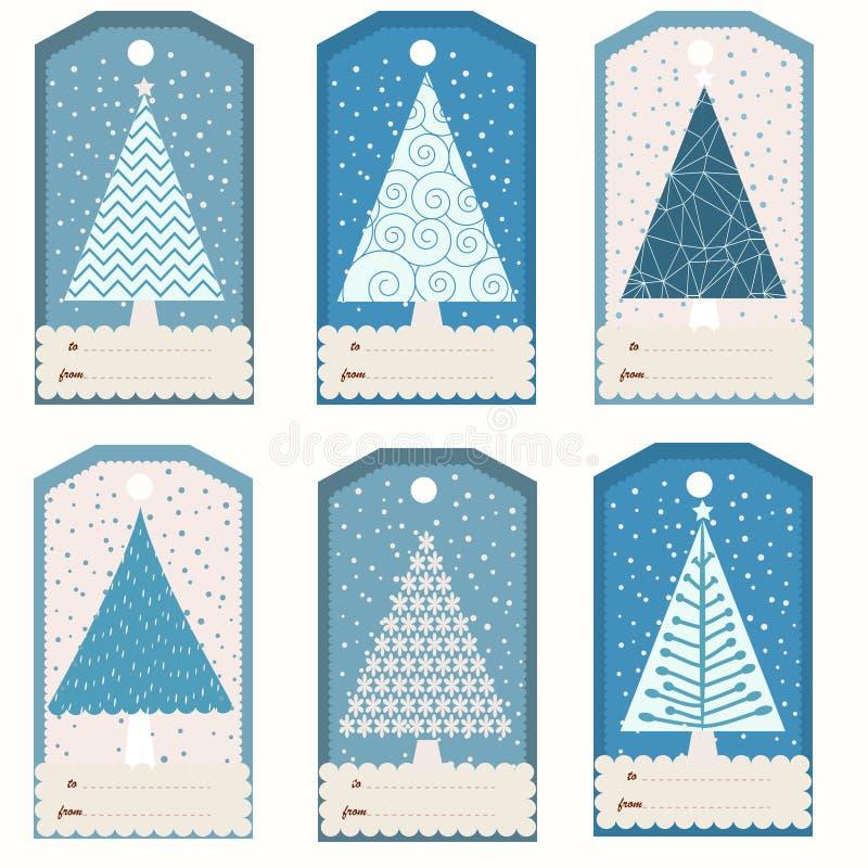 圣诞节礼品集合标签 皇族释放例证