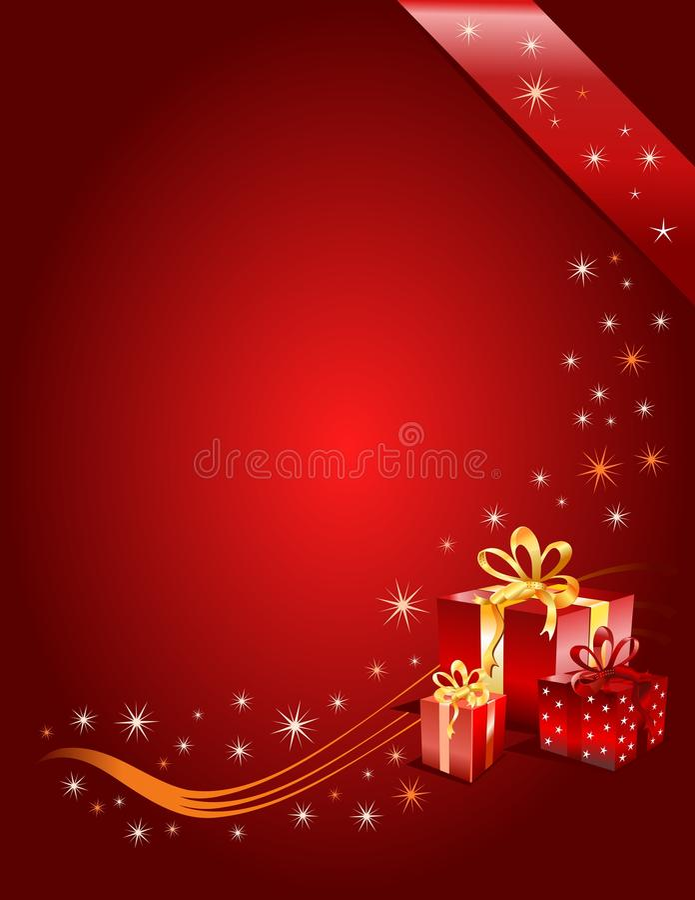 圣诞节礼品页向量 库存例证